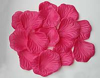 Лепестки роз 100 шт темно-розовые искусственные. Цвет темно-розовый.