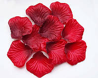 Лепестки роз 100 шт красные-черные искусственные. Цвет красно-черный.