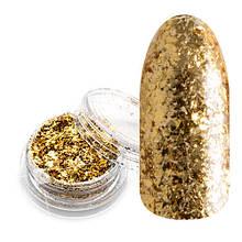 Хлопья Юки для декора ногтей золото (0,5 гр.)