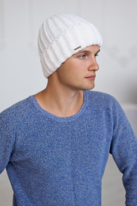 Зимняя мужская шапка «Кевин» Белый