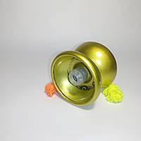 Йо-йо металлическое с подшипником (цвет-золото)