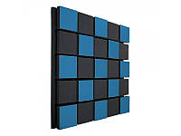 Акустическая панель Ecosound Tetras Acoustic Wood Blue 50x50см 53мм цвет синий, фото 1