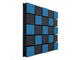 Акустична панель Ecosound Tetras Acoustic Wood Blue 50х50см 50мм колір синій