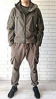 Мужская  Тактическая куртка Soft Shell Shark Skin.