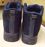 Кроссовки Криперы на меху, цвет-Синий,  материал-иск.замша, фото 3