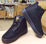 Кроссовки Криперы на меху, цвет-Синий,  материал-иск.замша, фото 6