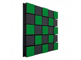 Акустична панель Ecosound Tetras Acoustic Wood Green 50х50см 53мм Колір зелений