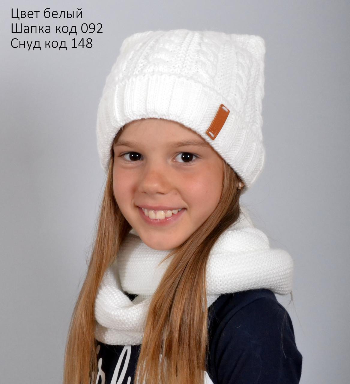 Шапка с ушками для девочки (образец)
