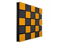 Акустична панель Ecosound Tetras Acoustic Wood Orange 50х50см 50мм помаранчевий колір, фото 1