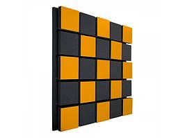 Акустическая панель Ecosound Tetras Acoustic Wood Orange 50x50см 53мм цвет оранжевый