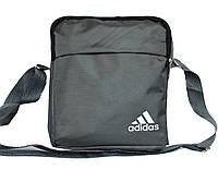 Спортивная мужская сумка в стиле ADIDAS серая