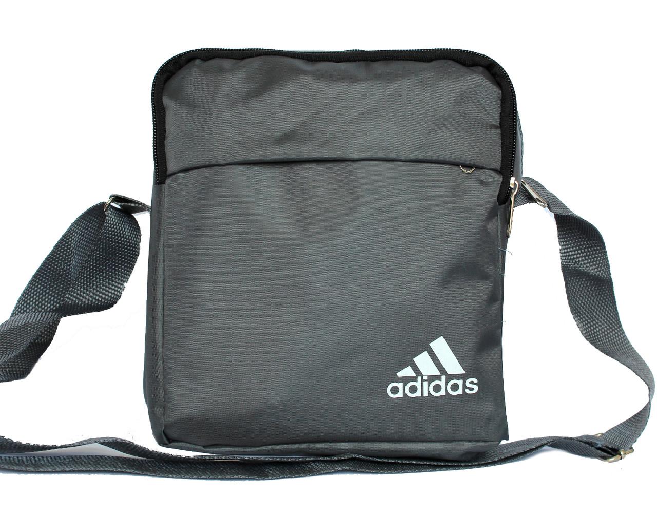 Спортивная мужская сумка в стиле ADIDAS серая - Интернет магазин TrendMix в  Одессе 8a5e1c6ba49