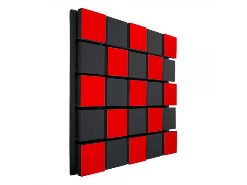 Акустическая панель Ecosound Tetras Acoustic Wood Red 50x50см 50мм Цвет красный