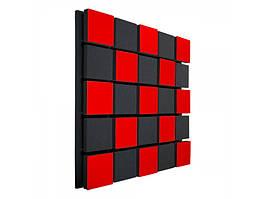 Акустична панель Ecosound Tetras Acoustic Red Wood 50х50см 53мм Колір червоний