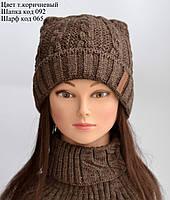 Женская вязаная шапка с ушками, фото 1