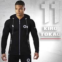 Мужской спортивный костюм Kiro tokao 156 черно-серый