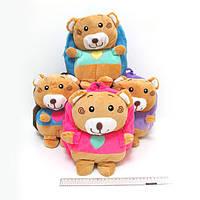 """Рюкзак детский с игрушкой """"Медвежонок"""" 26*24*6см, mix4"""