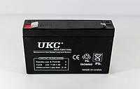 АККУМУЛЯТОР BATTERY 6V 7A UKC, кислотно-свинцовый аккумулятор, аккумуляторы