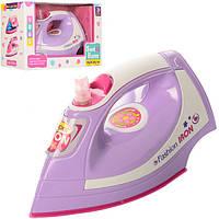 Детский игрушечный утюг 814, 20см, звук, свет, на бат-ке, в кор-ке, 25-15-10,5см.