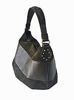 Мягкая сумка замш+кожа