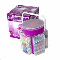 Швейный набор-органайзер - SupercosTurero 210 предметов, Набор швейных принадлежностей, Набор швейных ниток