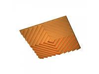 Підвісна акустична панель звукопоглинаюча Ecosound Quadro Acoustic Wave Orange. 50мм 1х1м Колір помаранчевий, фото 1
