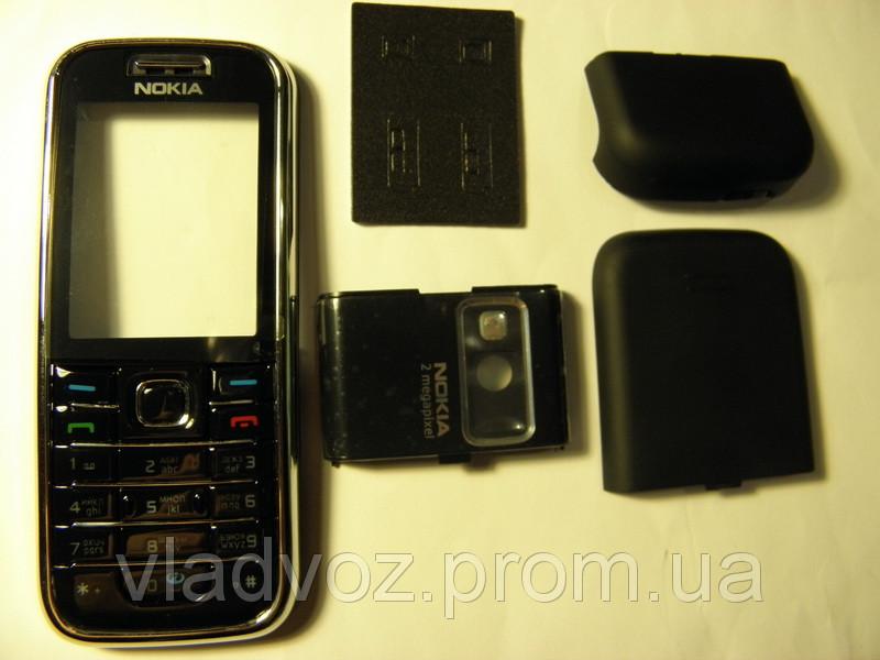 Корпус Nokia 6233 чёрный с клавиатурой class AAA