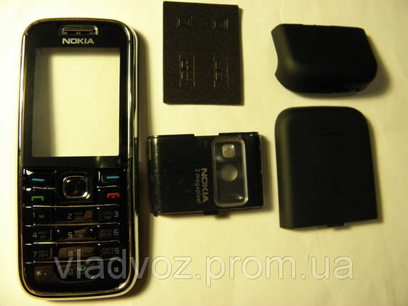 Корпус Nokia 6233 чёрный с клавиатурой class AAA, фото 2