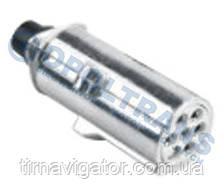 Вилка электрическая 24V 7-контактов со штырём (метал)