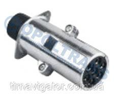 Вилка электрическая 24V 7-контактов без штыря (метал)