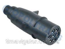 Вилка электрическая 24V 7-контактов без штыря (пластик)