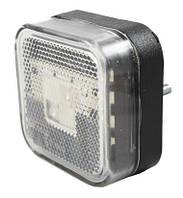 Габарит боковой светодиодный LED желтый квадратный 65*65 (LD097)
