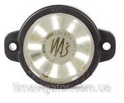 Габарит светодиодный передний LED круглый белый  W24W