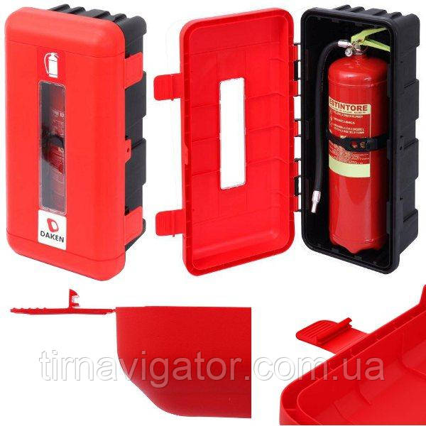 Ящик огнетушителя 6кг DAKEN (620х310х250, красно-чорный)