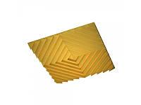 Акустическая подвесная звукопоглощающая панель Ecosound Quadro Acoustic Wave Yellow. 50мм 1х1м Цвет жёлтый, фото 1