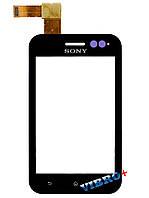 Тачскрин (сенсор) Sony ST21i Xperia Tipo, ST21i2, black (черный)