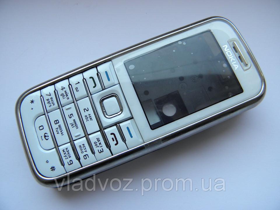 Корпус для Nokia 6233 белый + клавиатура class AAA