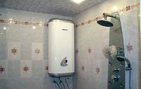 Монтаж электрических бойлеров в ванной комнате или туалете. Установка бойлера в Луцьку.