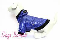 """Куртка для собак """"Ромбик"""" синяя KR-1"""
