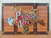Большое Русское лото в коробке, деревянные бочонки, Danko Toys