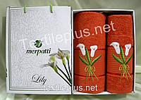Комплект полотенец Турция - Merpatti - Lily - 100% котон - лицо + баня - Разные цвета и модели