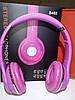 Беспроводные наушники S460 Bluetooth с MP3 плеером розовые, фото 2