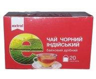 Чай черный Extra! индийский байховый мелкий 20 шт х 1,5 гр