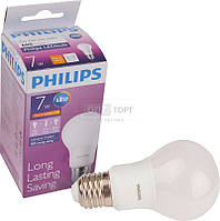 Philips Светодиодная лампа Philips LED Bulb 7-60W E27 3000K 230V A60 /PF