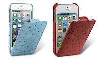 Чехол для iPhone 5/5S - Melkco Ostrich Jacka leather case