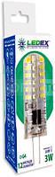 LedEx LED лампа LEDEX G4 (3W, 3000K, 12V AC-DC) чип: Epistar