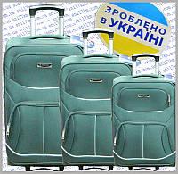 Комплект Украинских чемоданов 3-ка.на силиконовых колёсах