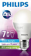 Philips Светодиодная лампа Philips LEDBulb 7-60W E27 6500K 230V A55