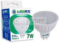 LedEx LED лампа LEDEX MR16  7W, 4000К, 665lm, 120?, 220V, чип: Epistar (Тайвань)