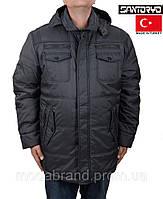 Теплая зимняя куртка Santoryo-7108 серая